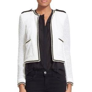 The Kooples Summer Cotton Blend Knit Jacket